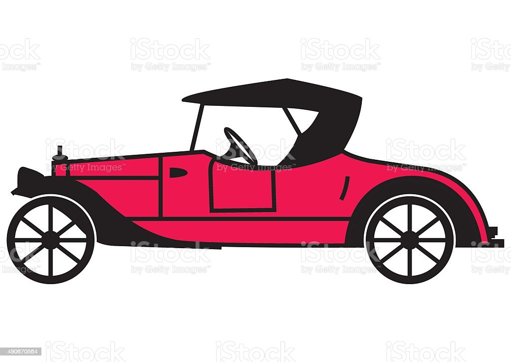 Roadster vector art illustration