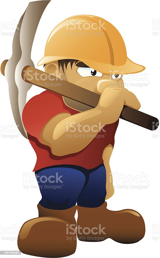 Roadworker - Pickaxe royalty-free stock vector art