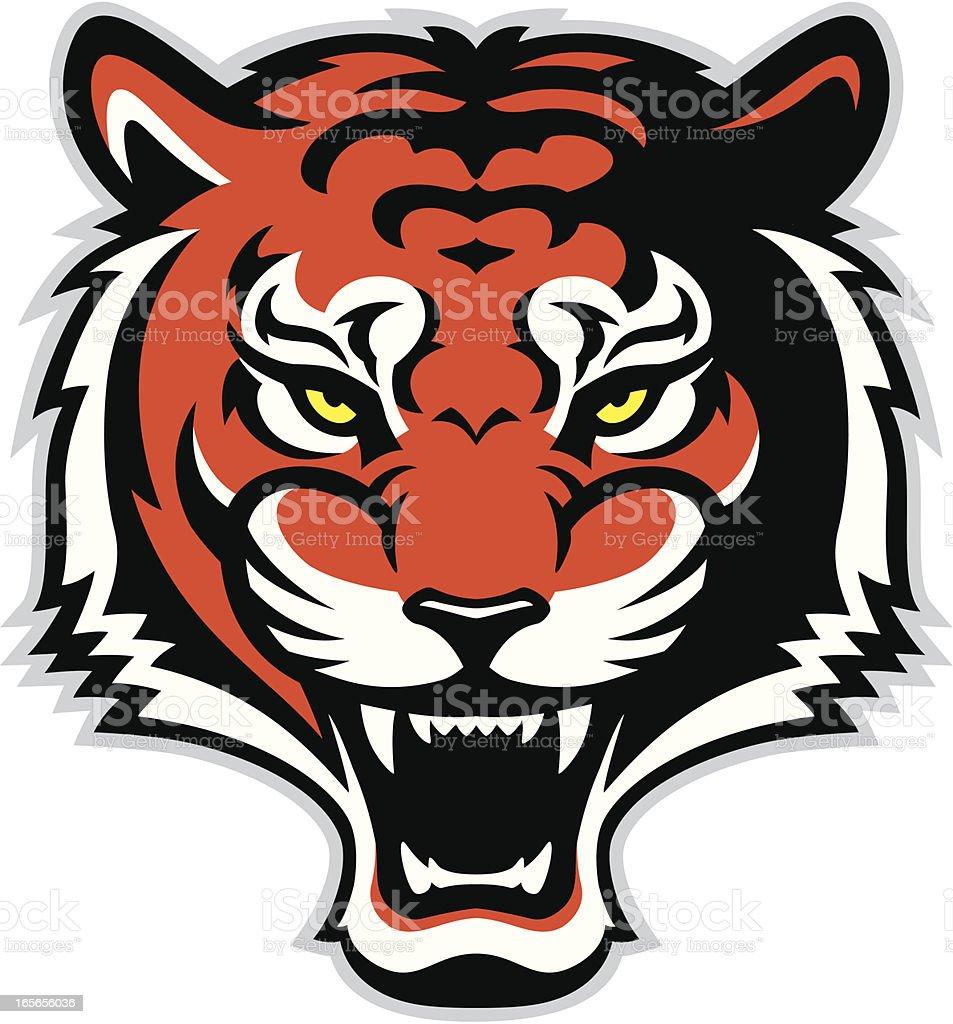 Roaring tiger royalty-free stock vector art