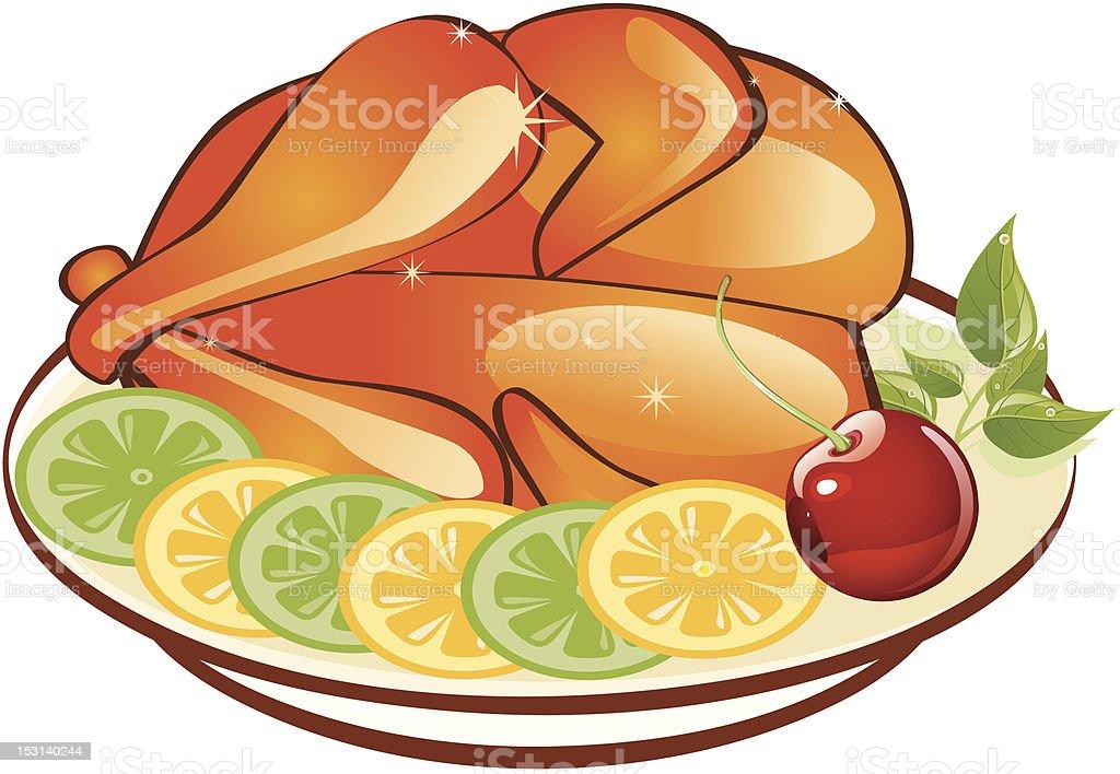 Roast Chicken royalty-free stock vector art