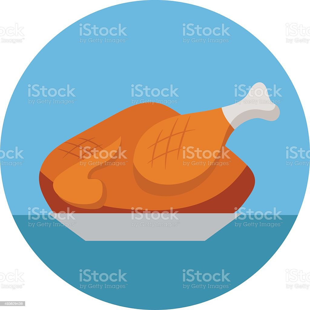 Roast Colored Vector Icon vector art illustration