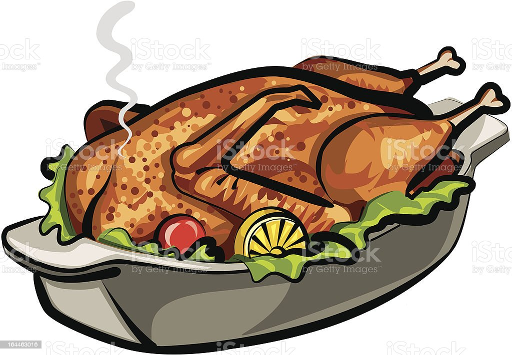 roast goose vector art illustration