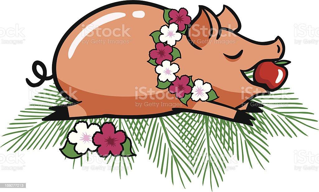 Roast Luau Pig royalty-free stock photo
