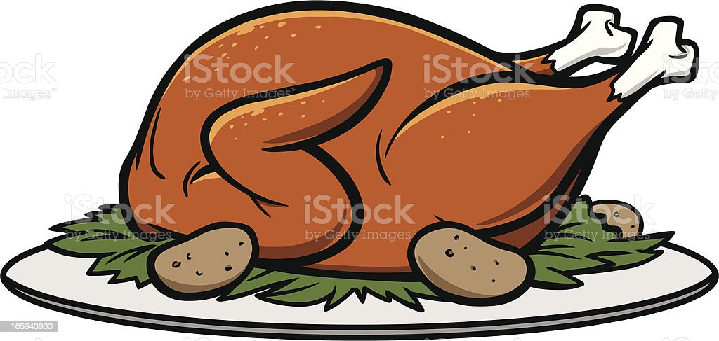 Cooked Turkey Cartoon Clip Art, Vector Images & Illustrations - iStock