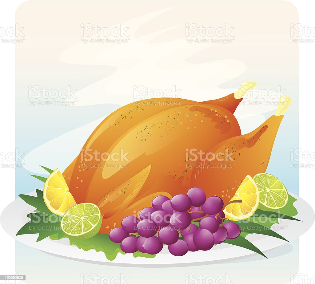 Roasted Chicken icon royalty-free stock vector art