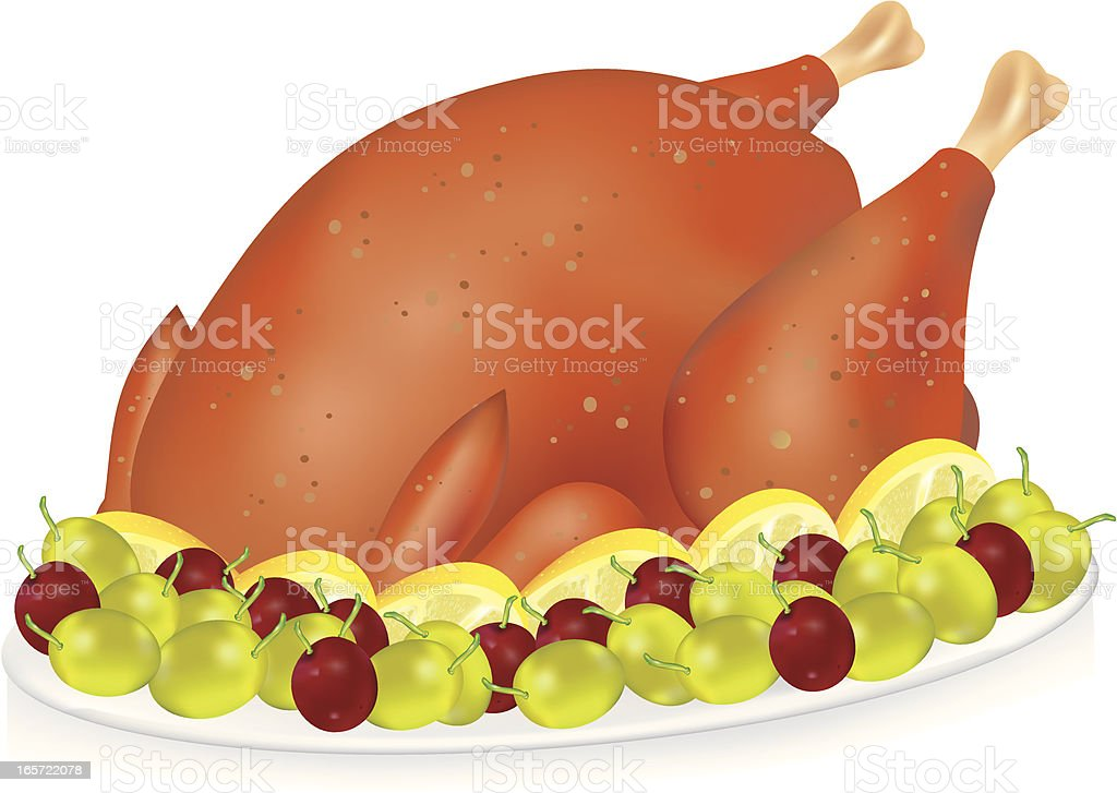 Roasted Thanksgiving Turkey royalty-free stock vector art