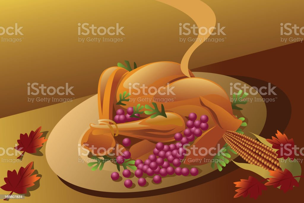 Roasted Turky royalty-free stock vector art