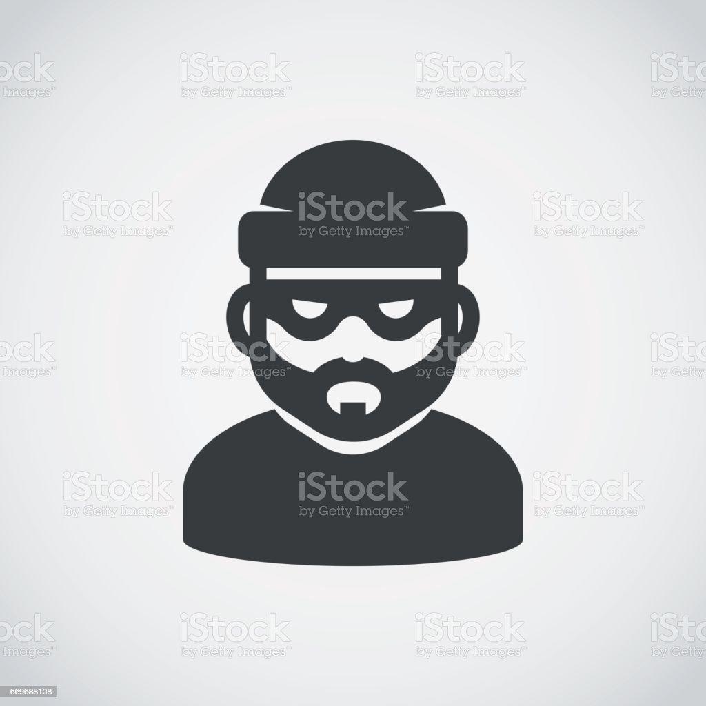 Robber icon. Bandit. vector art illustration