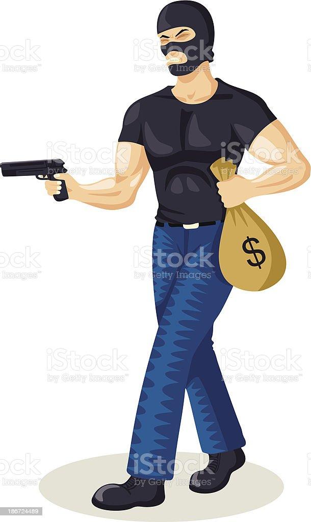 Robber royalty-free stock vector art