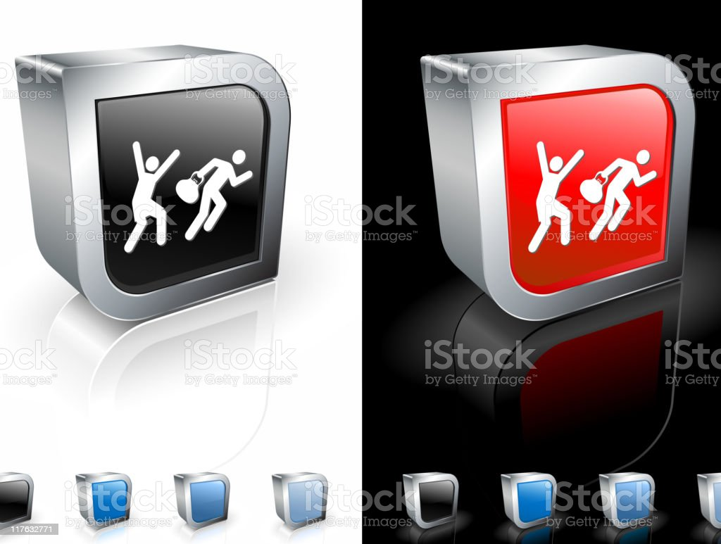 robbery 3D royalty free vector art royalty-free stock vector art