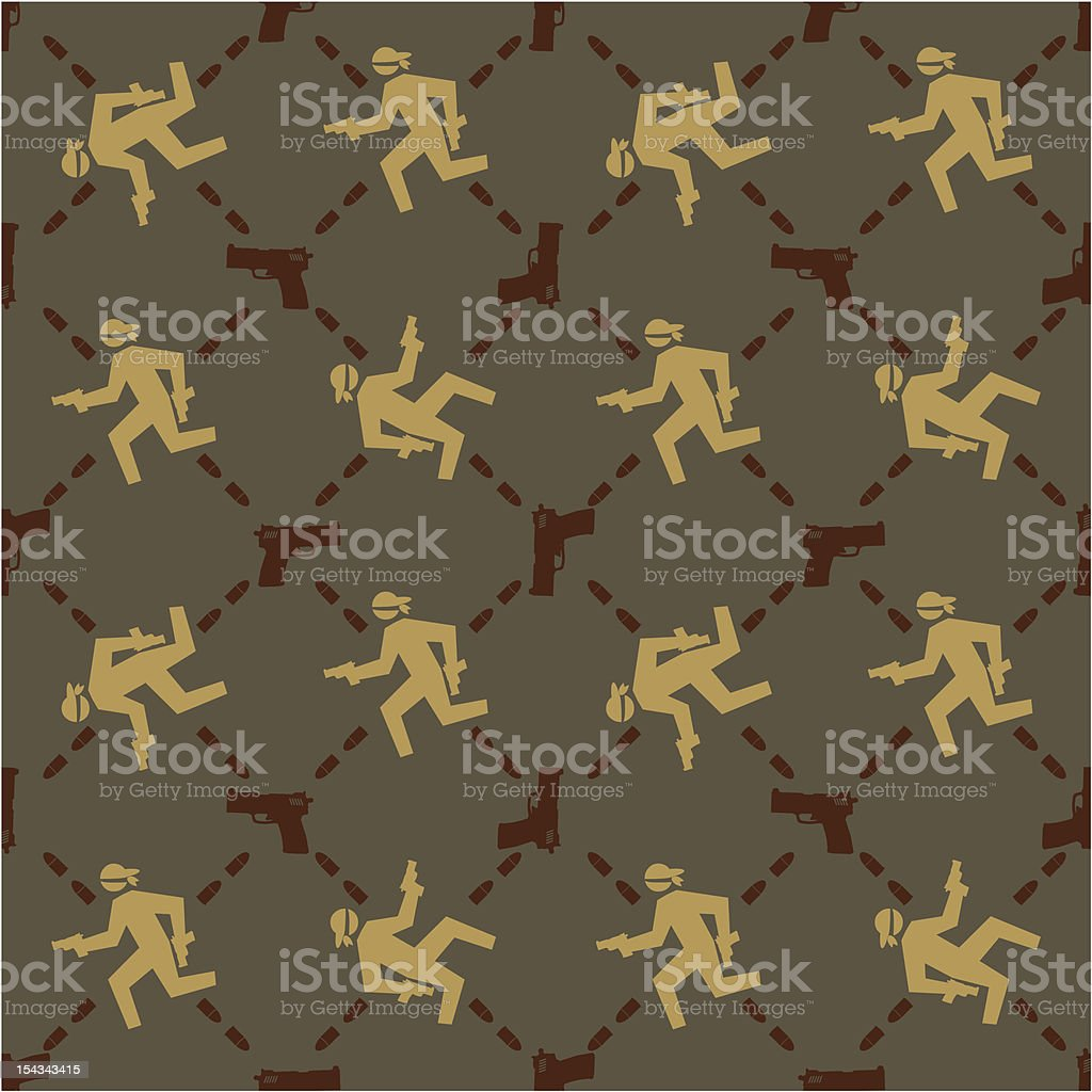 Robbery Pattern royalty-free stock vector art