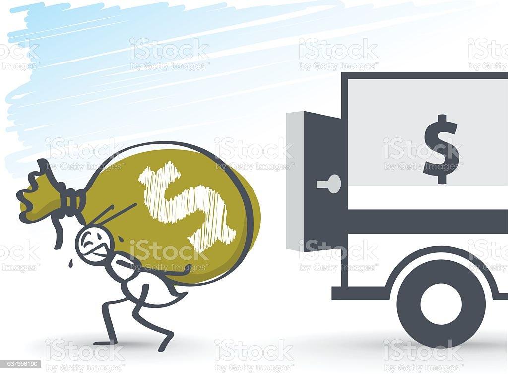 Robbery vector art illustration