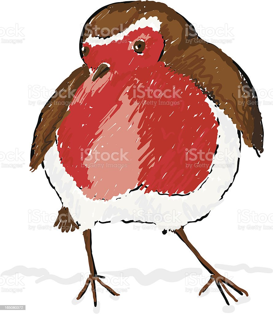 Robin Red Breast royalty-free stock vector art