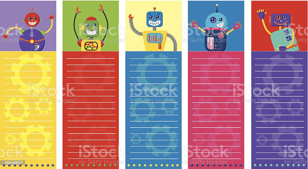 Robot cards royalty-free stock vector art