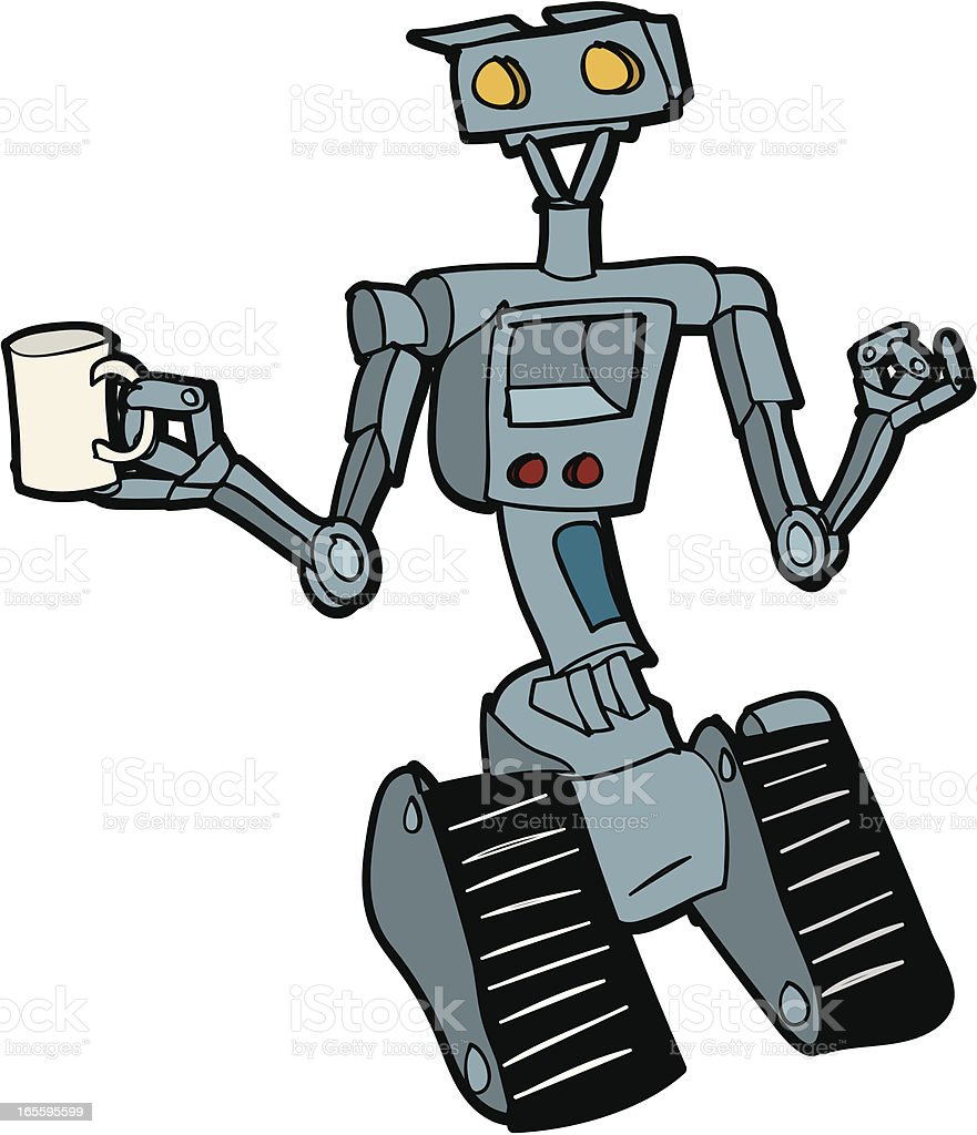Robot Cartoon vector art illustration