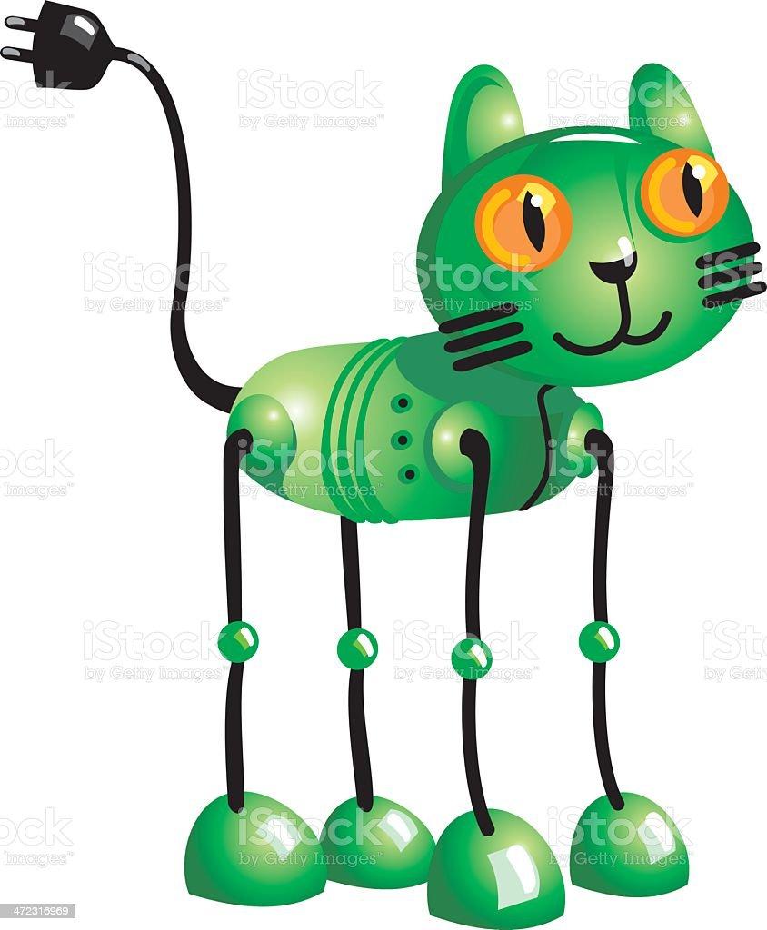 Robot Cat royalty-free stock vector art