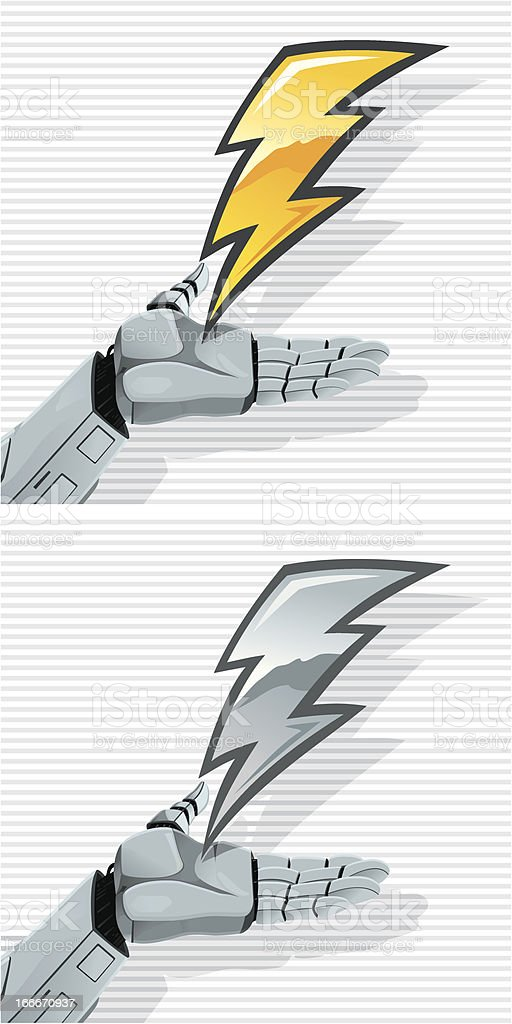 Robot Hand and Bolt royalty-free stock vector art