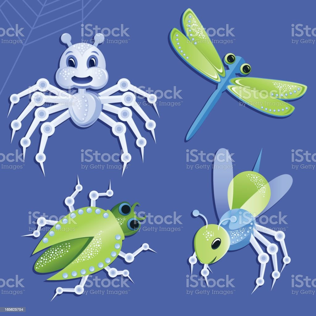 Robot Insects vector art illustration