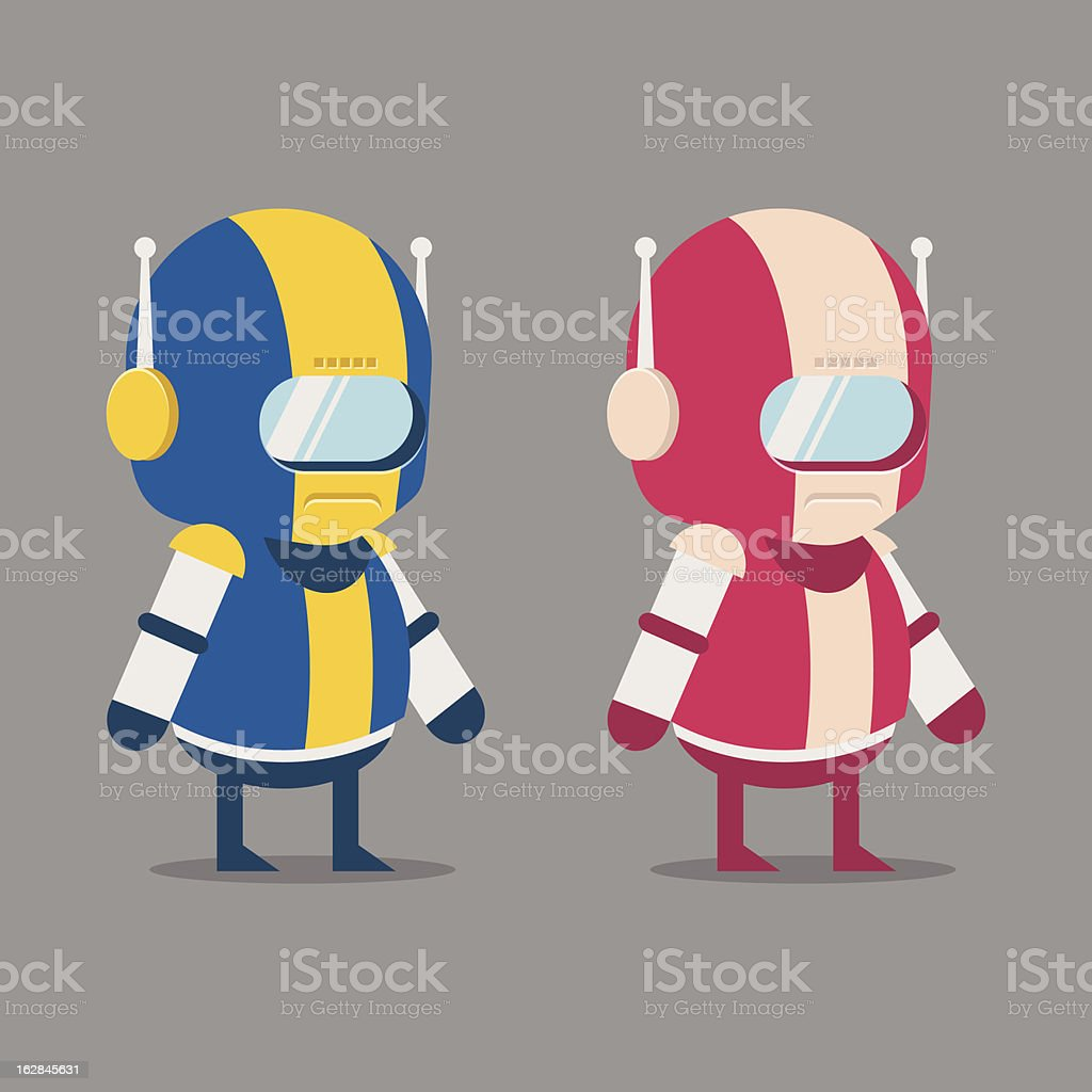 Robot Space Suits royalty-free stock vector art
