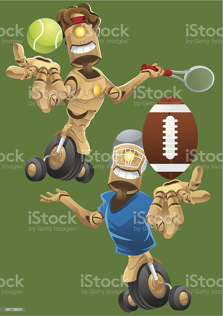 Robot Sports royalty-free stock vector art
