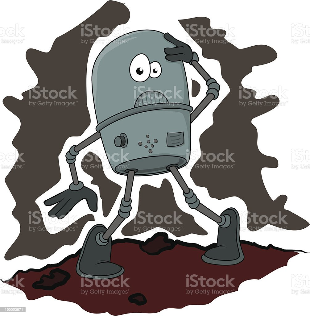Robot surprised royalty-free stock vector art