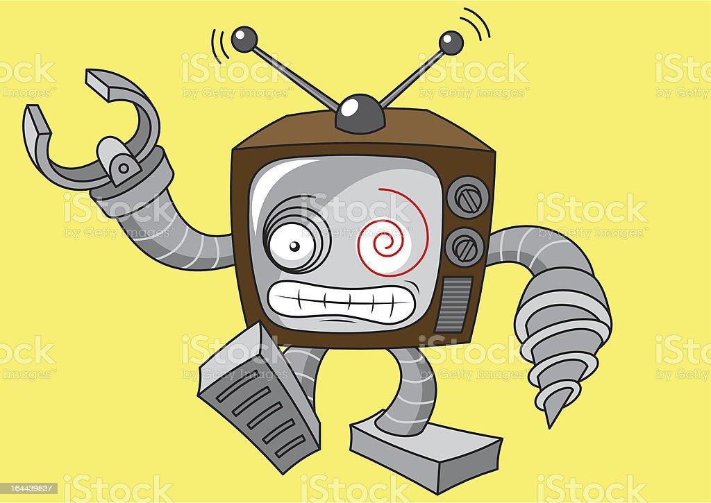 robot TV royalty-free stock vector art