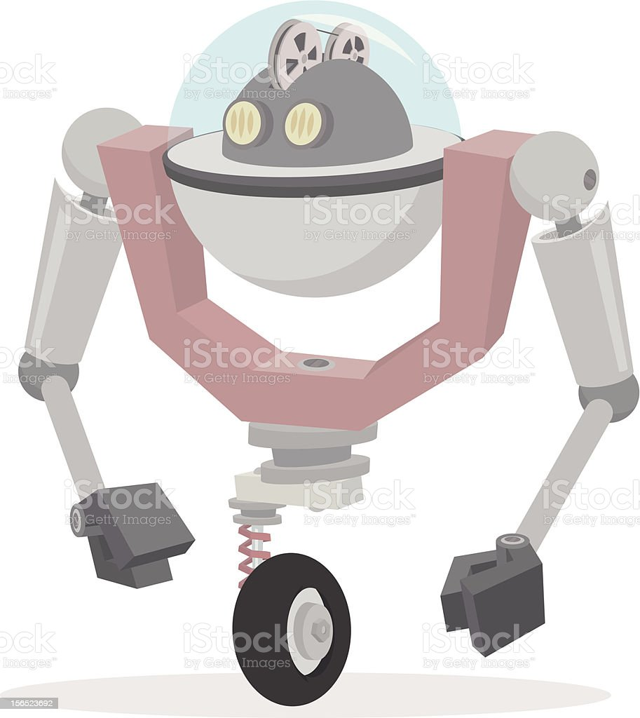 Roboter Unicycle royalty-free stock vector art