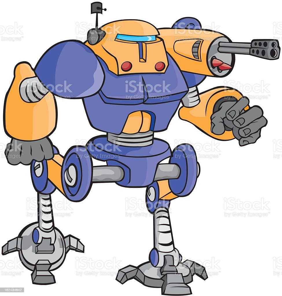 Robot royalty-free stock vector art