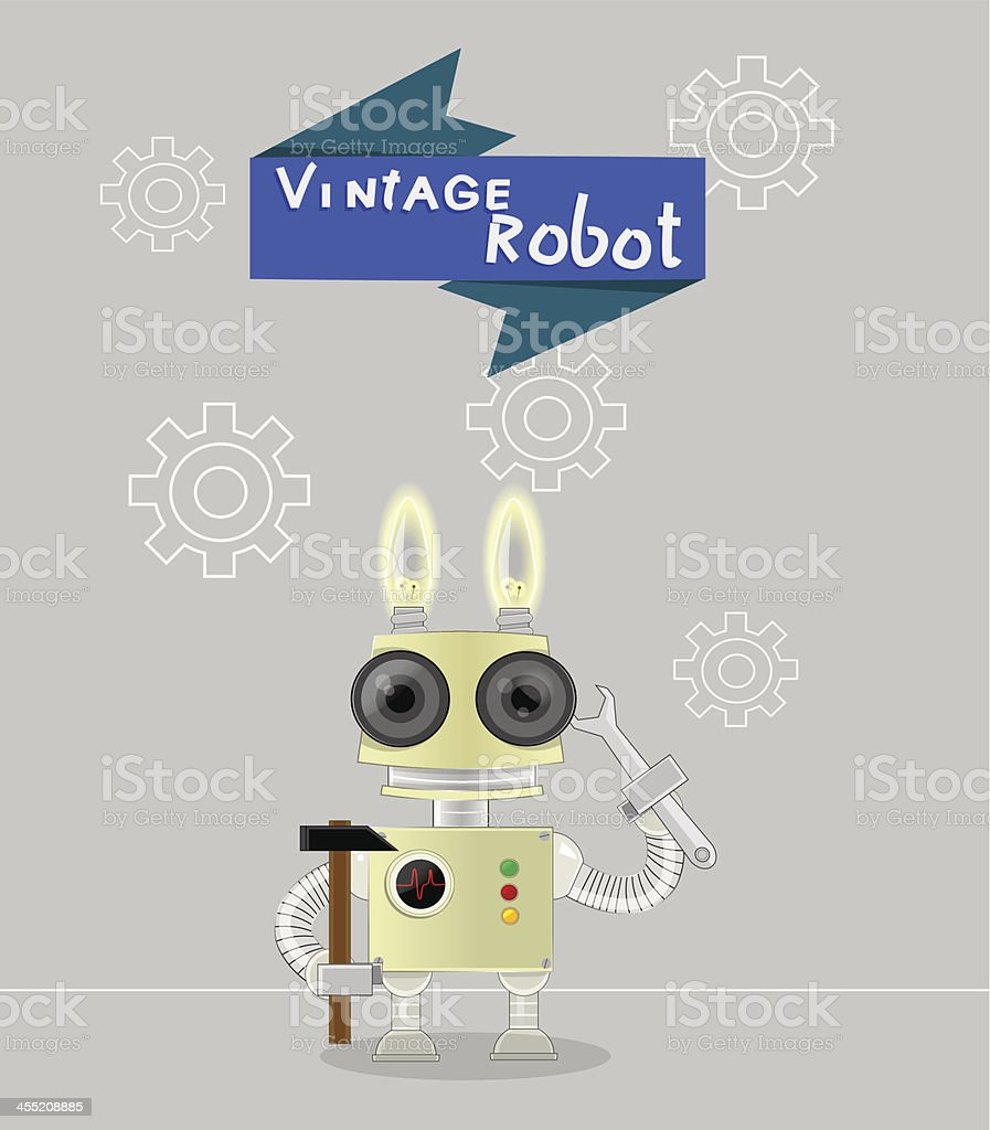 Robot royalty-free stock vector art