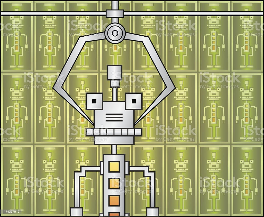 robot_warehouse royalty-free stock vector art