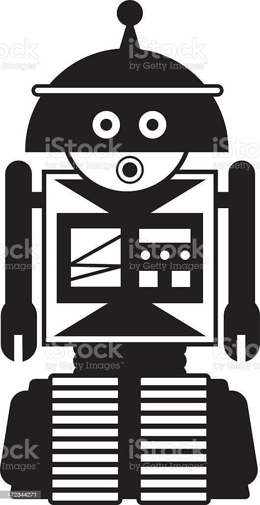 RobotGbw royalty-free stock vector art