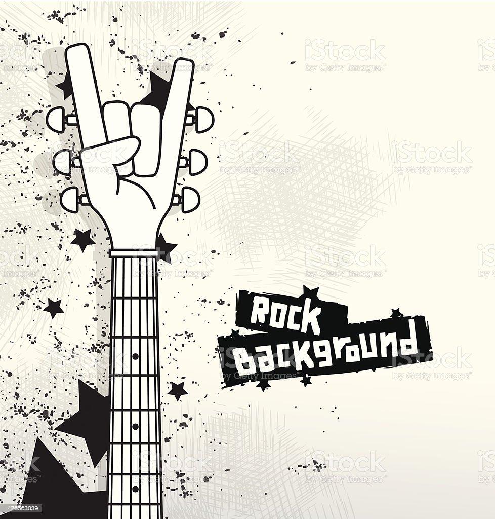 Rock background white vector art illustration