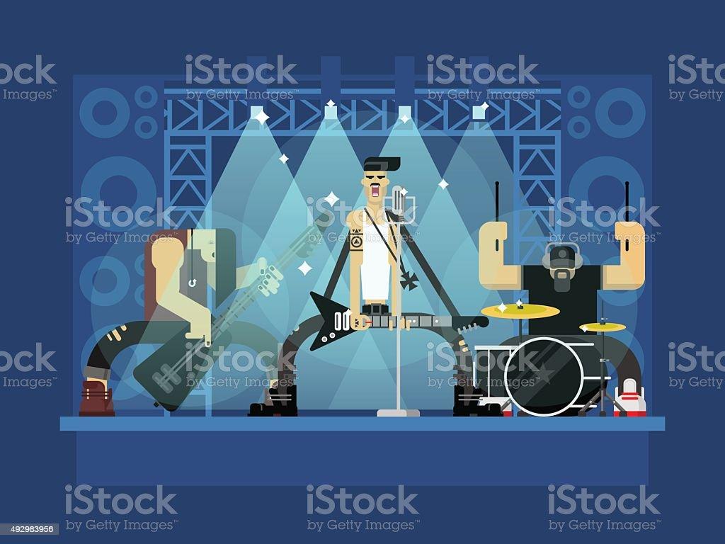 Rock band illustration vector art illustration