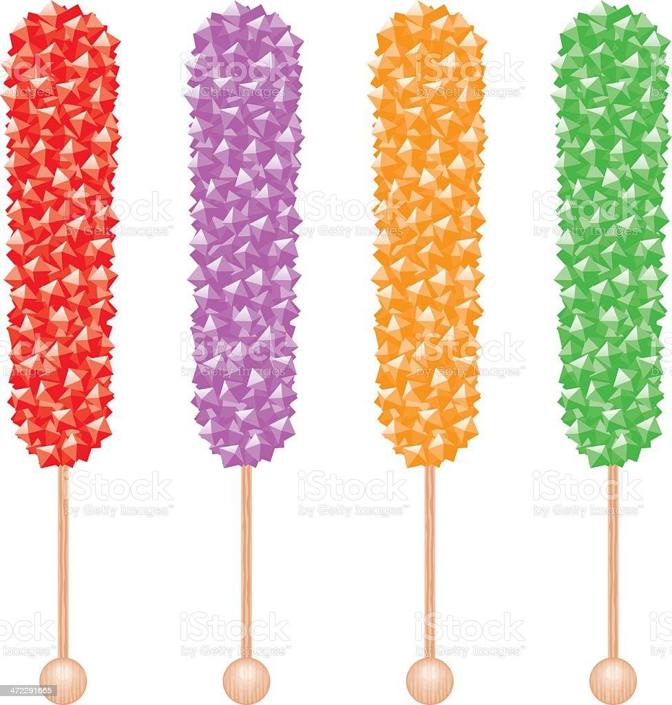 Rock Candy Sticks royalty-free stock vector art
