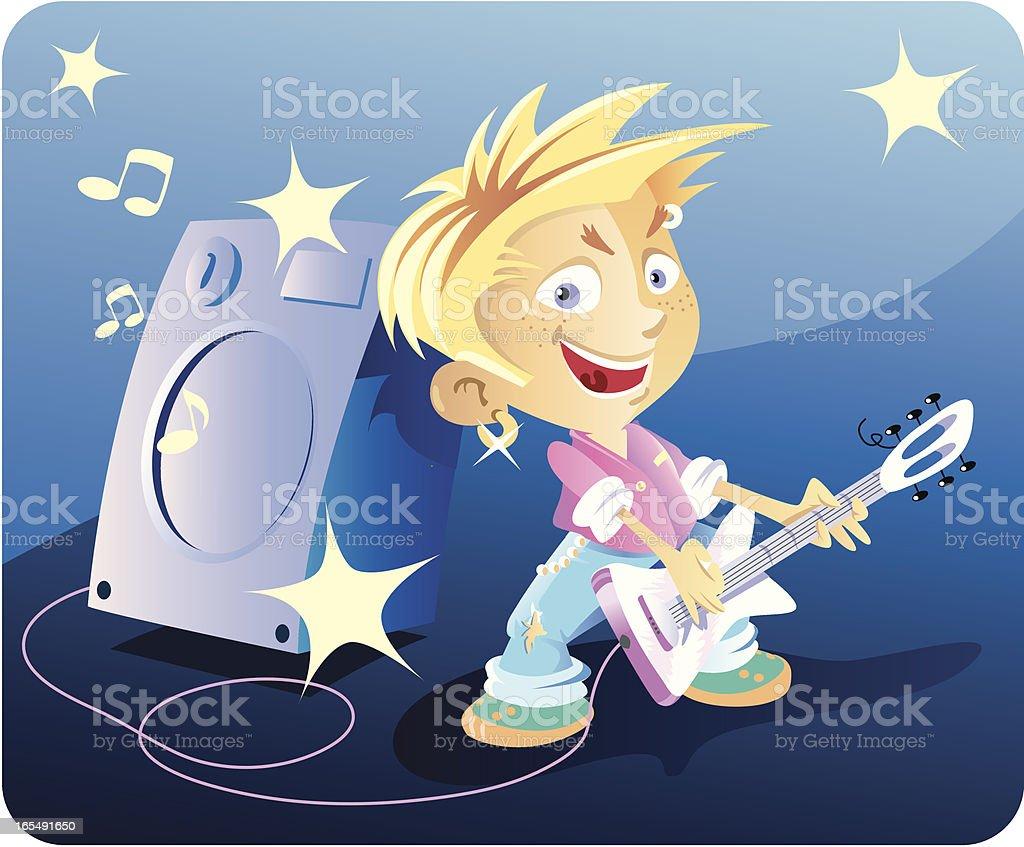 rock celebrity vector art illustration