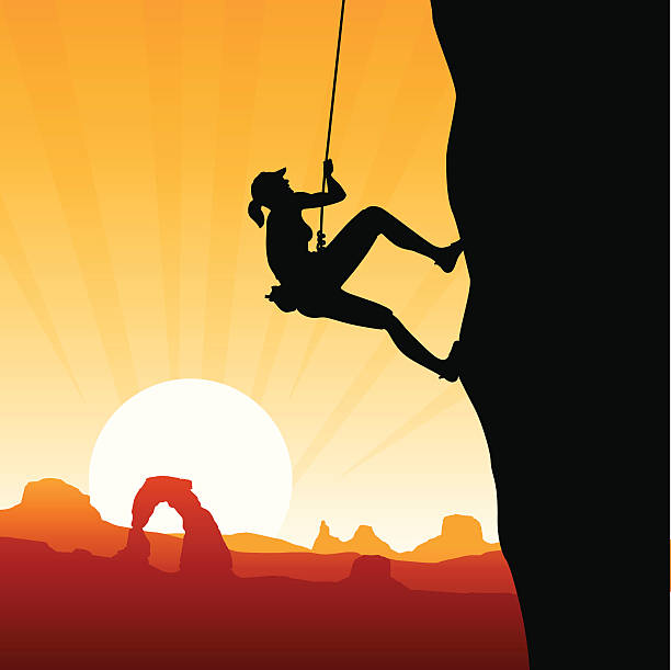 Rock Climbing Clip Art, Vector Images & Illustrations - iStock