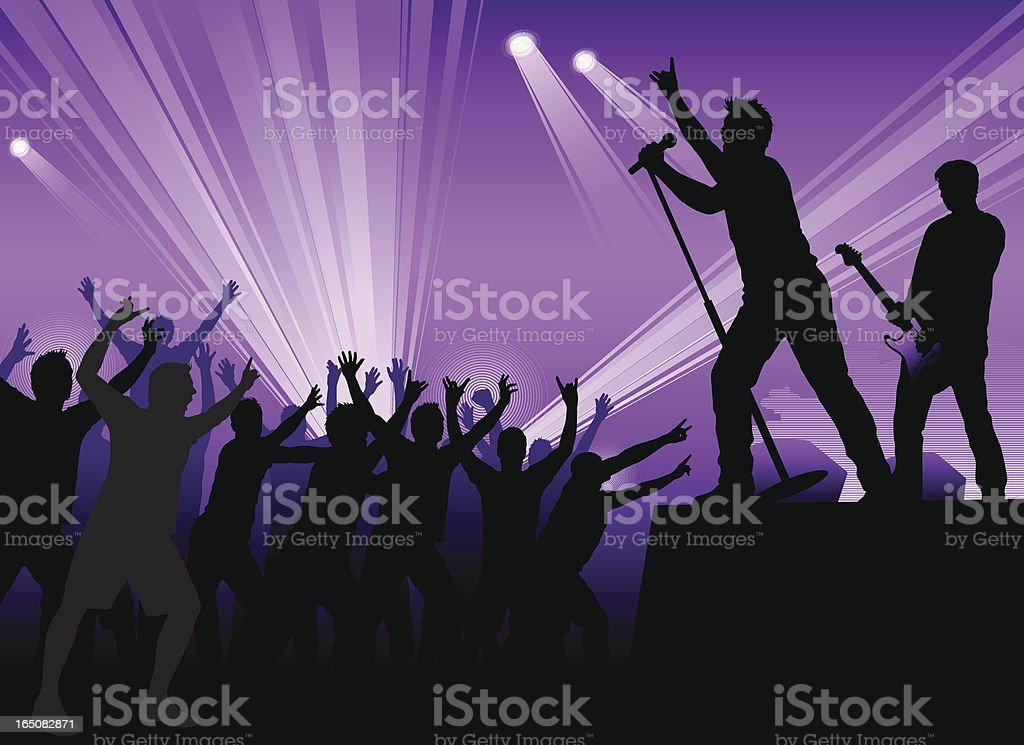 Rock concert vector art illustration