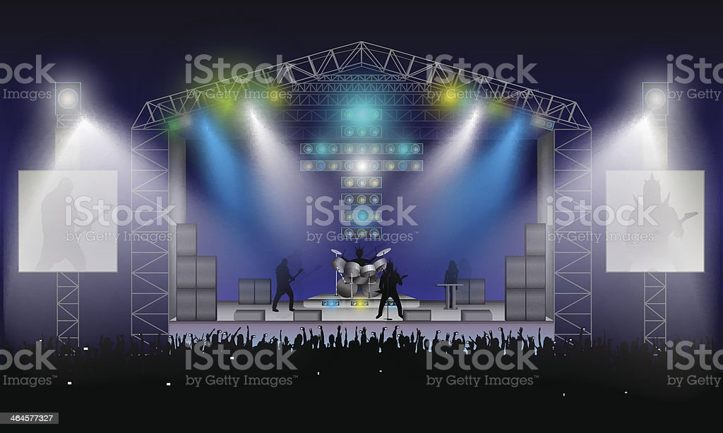 Rock Concert. Vector. vector art illustration
