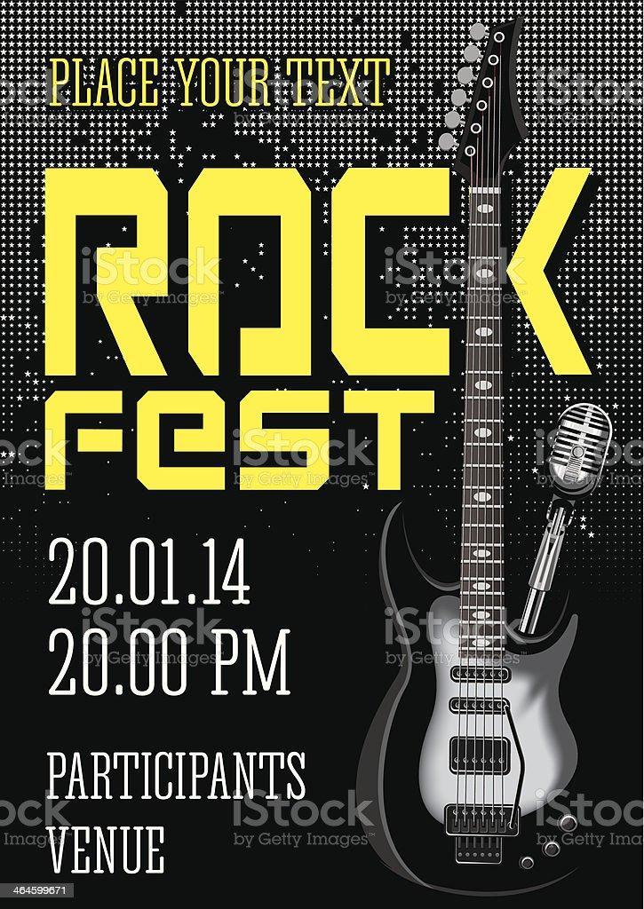 Rock festival design template royalty-free stock vector art
