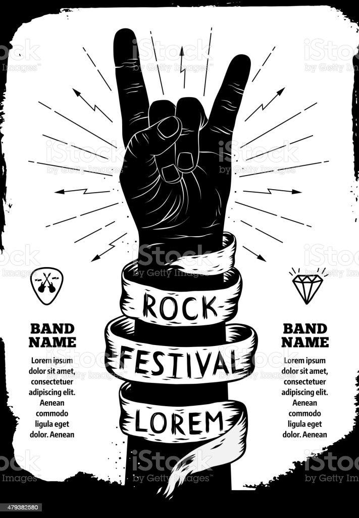 Rock festival poster vector art illustration