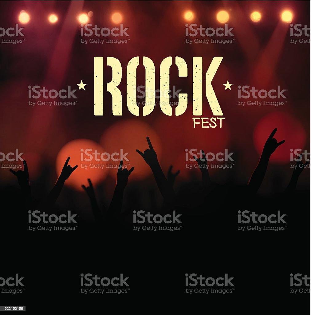 Rock Festival vector art illustration