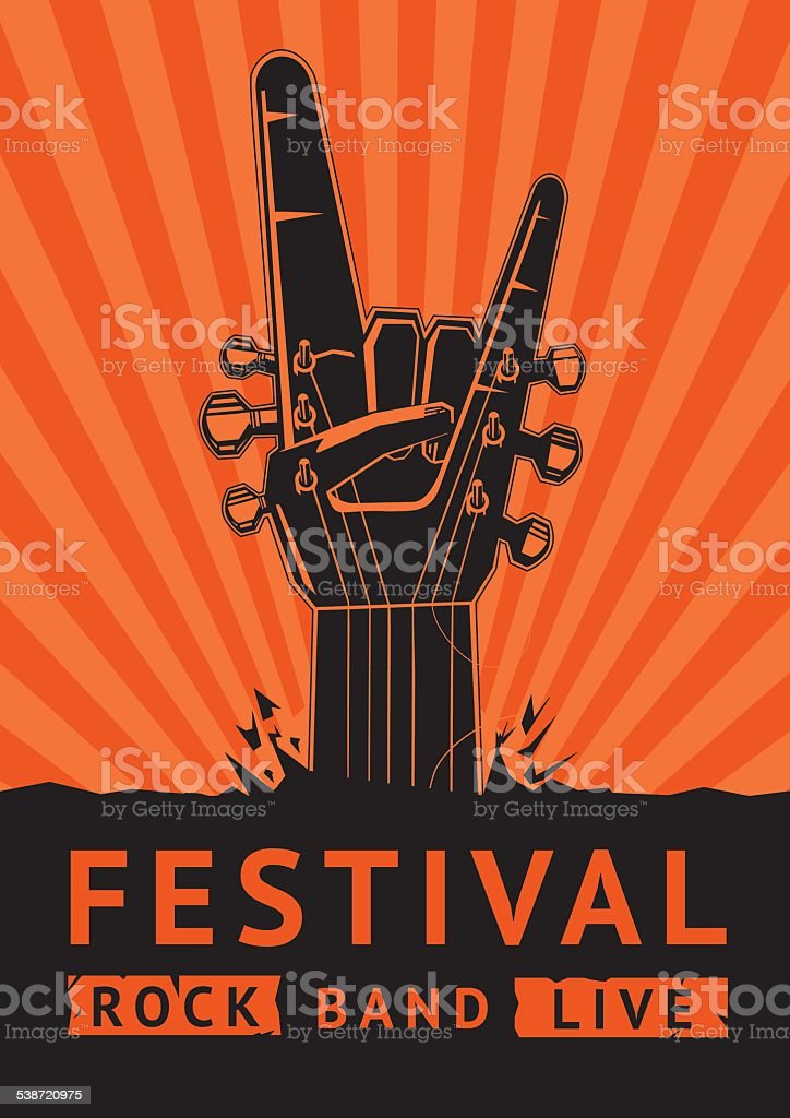 Rock Festival. vector art illustration