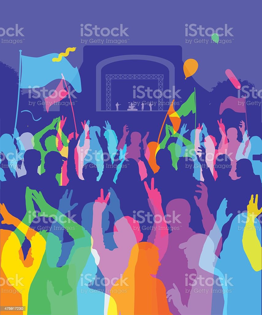 Rock Festival/concert vector art illustration