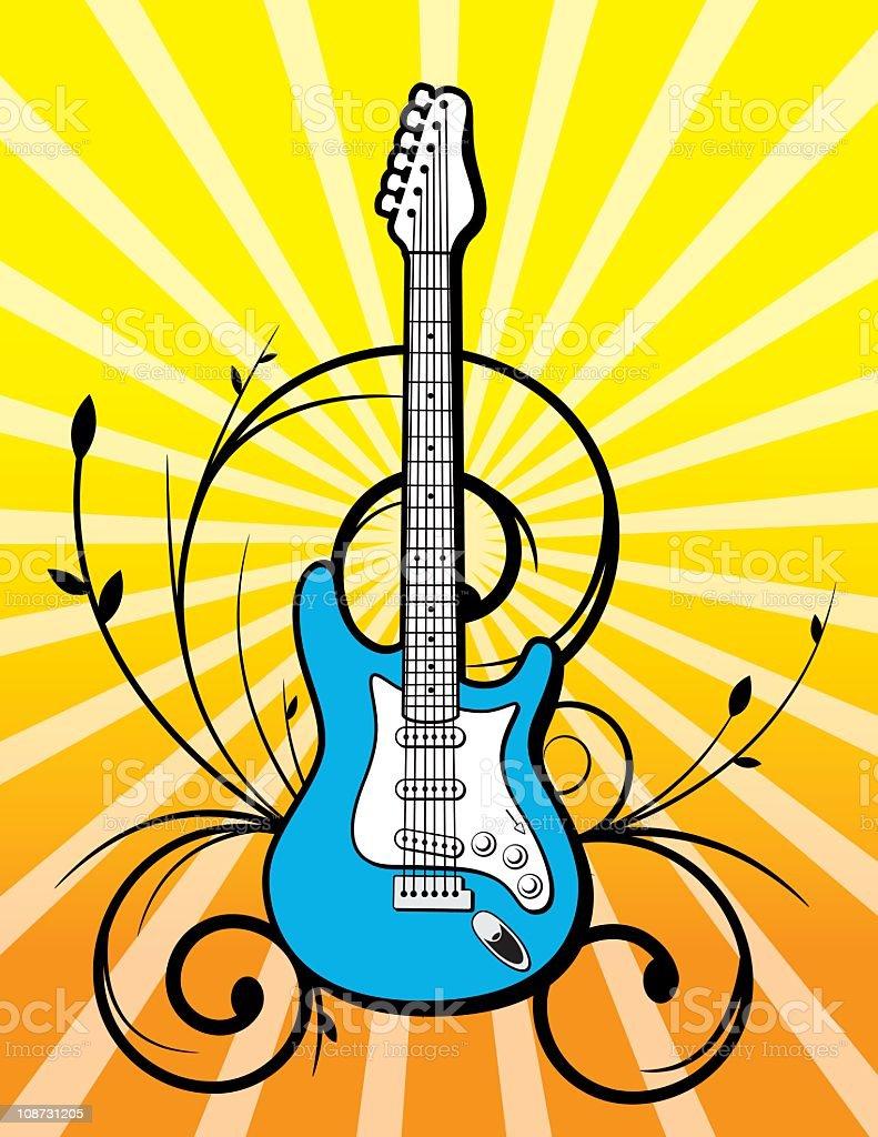 Rock Guitar vector art illustration