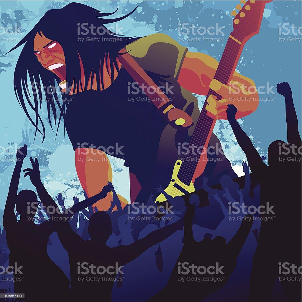 rock guitarist royalty-free stock vector art