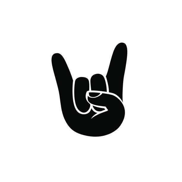 Rock And Roll Hands Clip Art, Vector Images & Illustrations - iStock