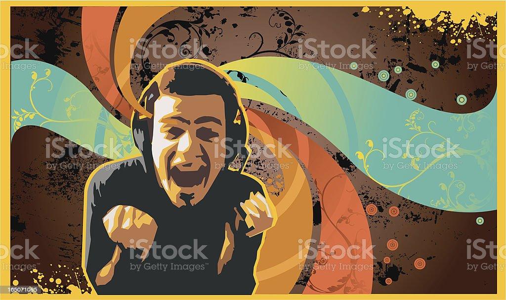 rock music design, retro style. vector art illustration