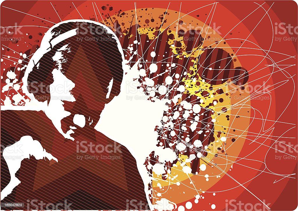 Rock music design vector art illustration