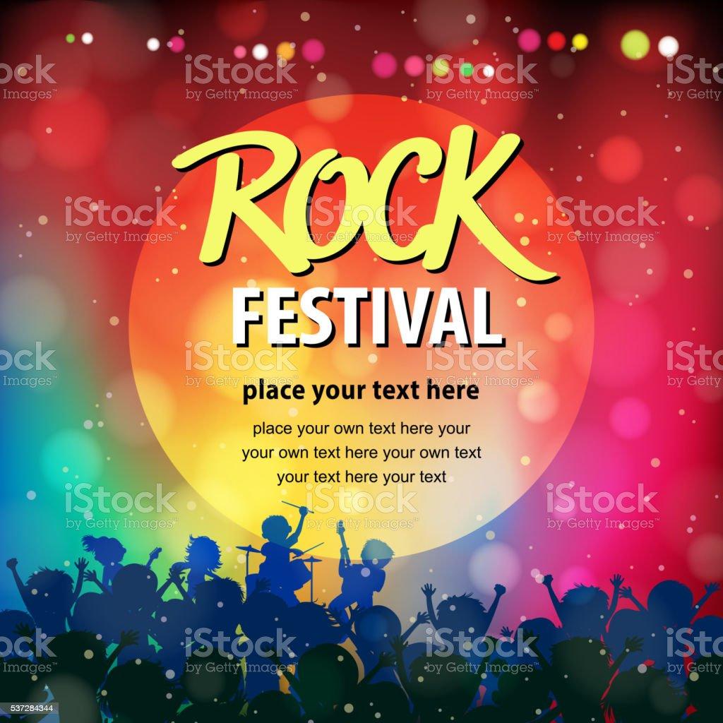 Rock Music Festival vector art illustration