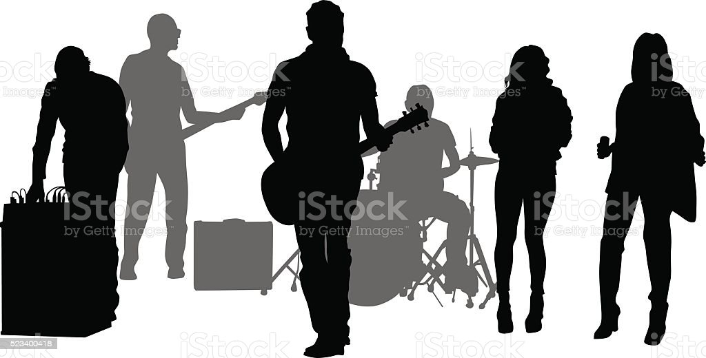 Rock music guitar vector art illustration